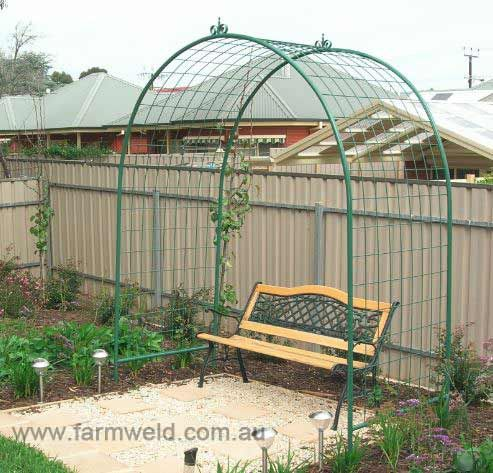 Standard, Round Top Garden Arch For Vegie Patch. Mesh Sides Are Great For  Tendril Plants Like Peas U0026 Passionfruit. Std Round Top With Fleur De Lys  Detail On ...