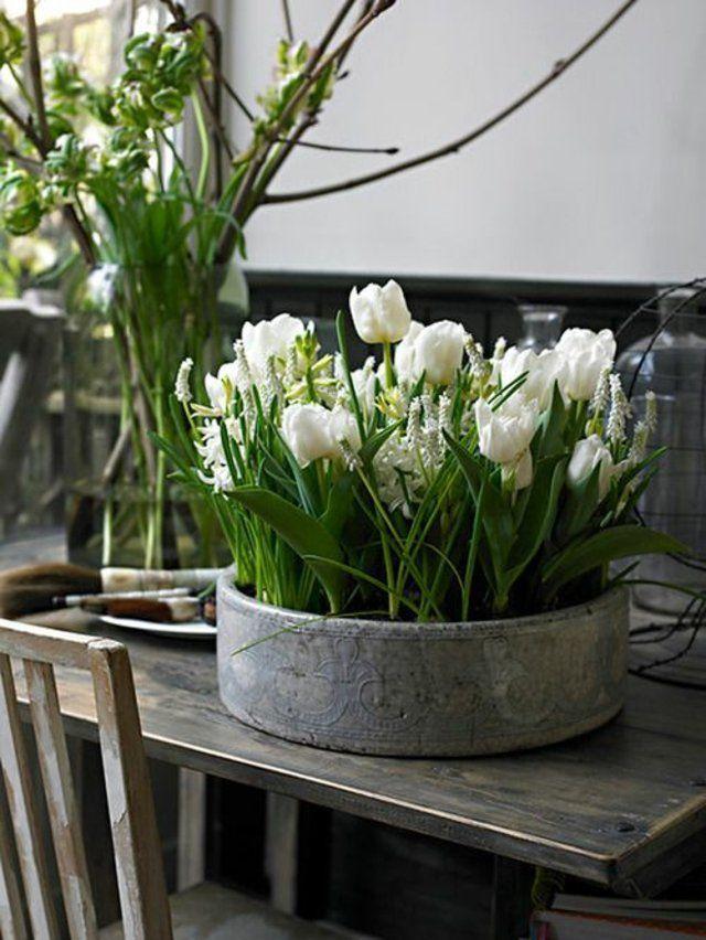 68 id es de compositions florales pour la table de. Black Bedroom Furniture Sets. Home Design Ideas