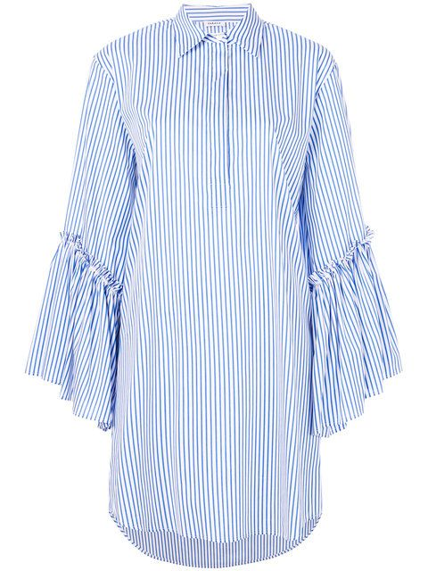 Cheap Price Original ruffle sleeved shirt dress - Blue P.A.R.O.S.H. Sale Amazing Price Cheap Manchester Great Sale Sale Visit New zOTk4v2ALx