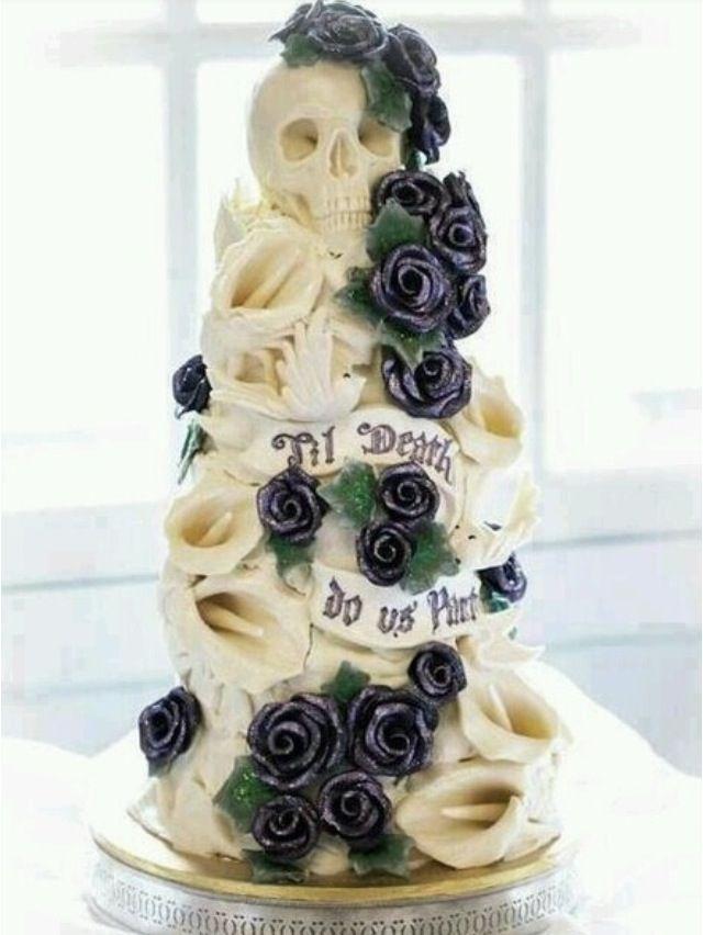 Skull Wedding Cake Till Do Us Part