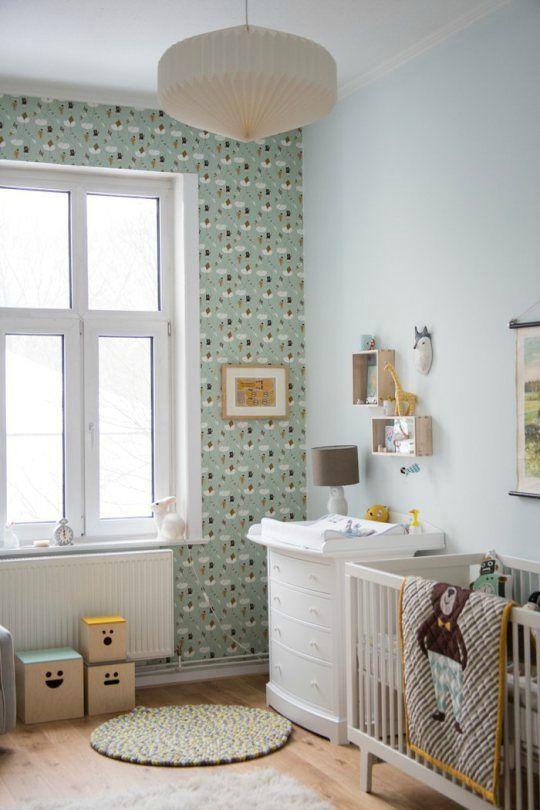 Vert d\'eau et jaune moutarde - Sonia Saelens déco | chambre bébé ...