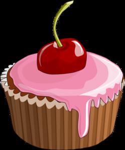 Cherry Cupcake Clip Art Vector Clip Art Online Royalty Free Public Domain
