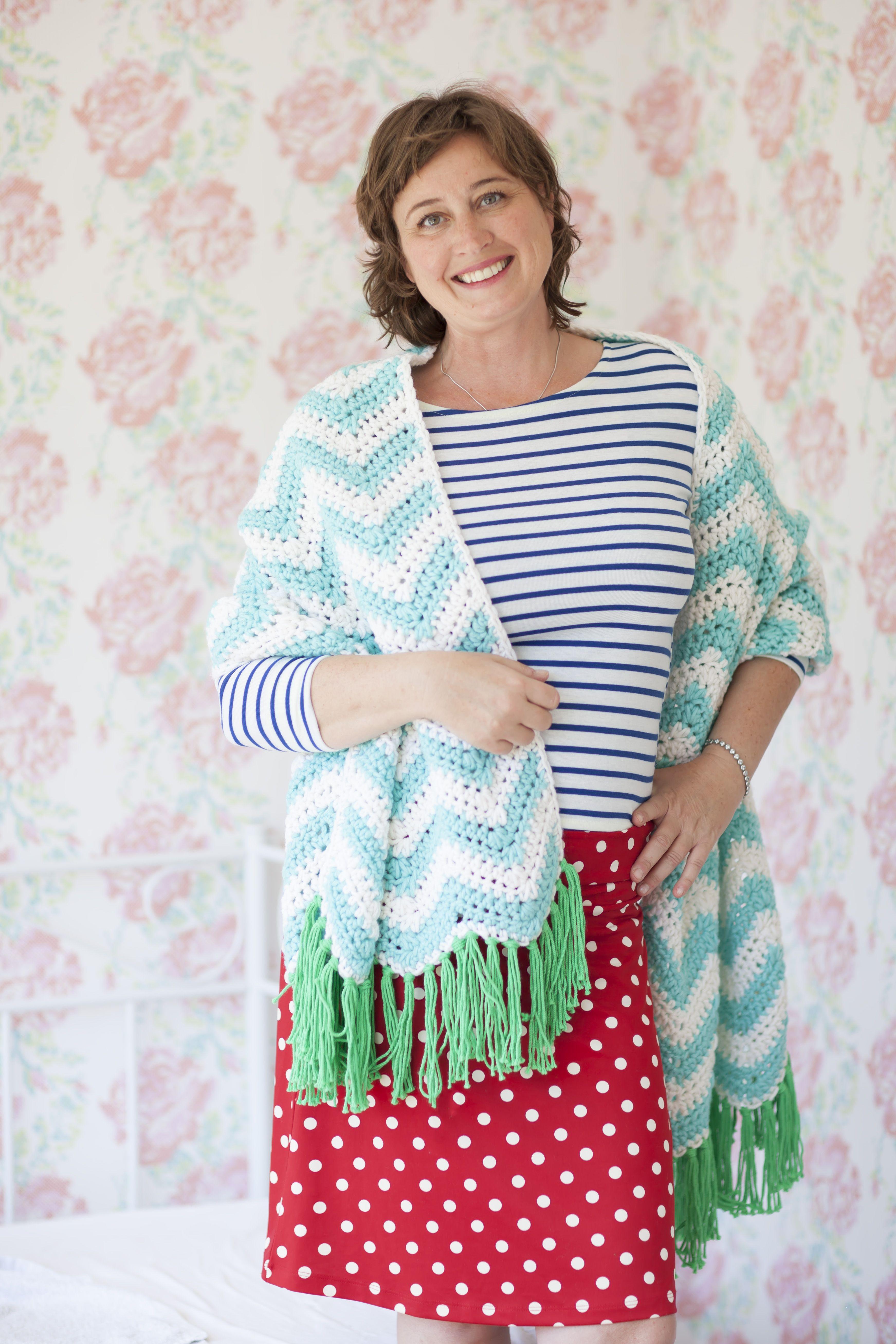 Zigzag Sjaal Alles Is Haken Home Saskia Laan By Me Crochet