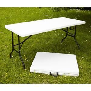 Table de camping fiesta 180 cm blanc dot d 39 une - Tables pliantes castorama ...