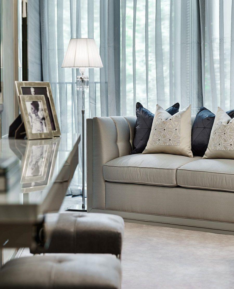 Elicyon one hyde park luxury design bedroom 2 sofa