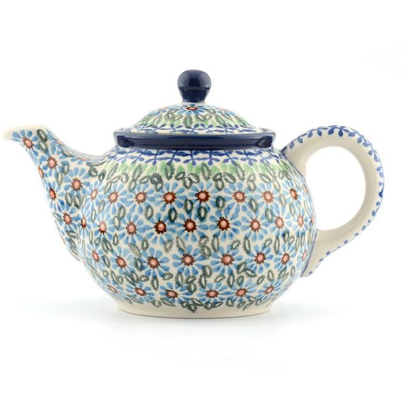 Bunzlau Castle Teapot - Meadow - Small (58 CAD) ❤ liked on Polyvore featuring home, kitchen & dining, teapots, blue, vintage tea pots, floral teapot, blue teapot, vintage teapots and ceramic tea pot