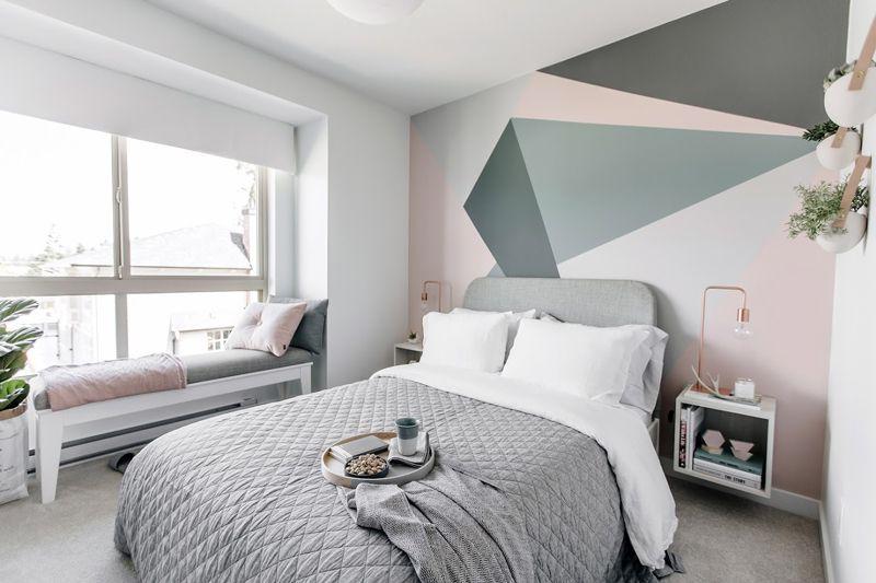 Slaapkamer Met Pastelkleuren : Neem een kijkje in dit huis met een subtiel pastel roze interieur
