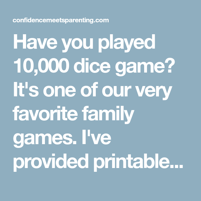 graphic regarding 10000 Dice Game Rules Printable called 10,000 Cube Recreation with Printable Regulations Card and cube video games