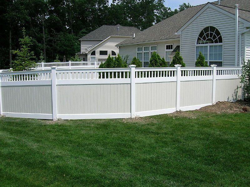 White Vinyl Privacy Fence By Elyria Fence