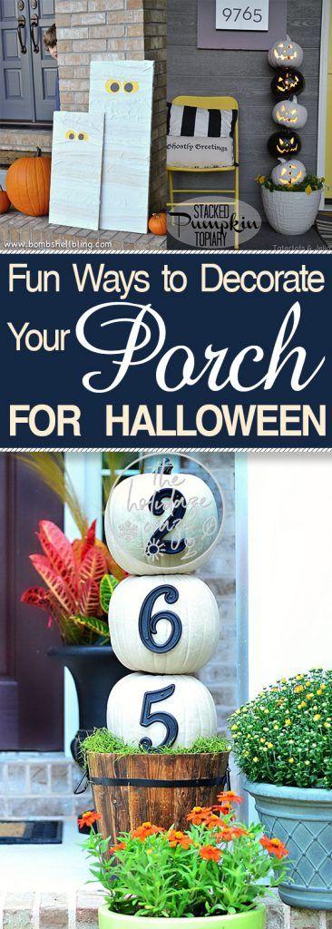 Halloween Porch Ideas, Halloween Front Porch, DIY Porch Decor, Porch - how to decorate home for halloween