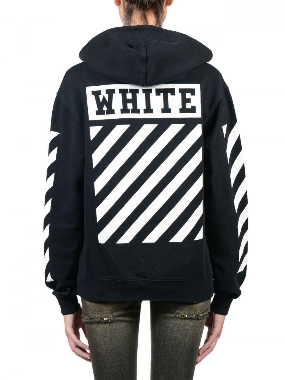 a484ebec0 Off-white c/o virgil abloh Caravaggio Black Hoodie in Black | Lyst ...