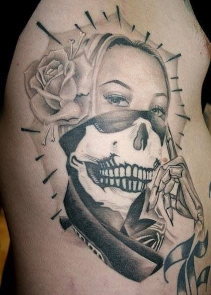 Virgin Mary as a cartel tattoo. I love it!   tatts   Pinterest ...