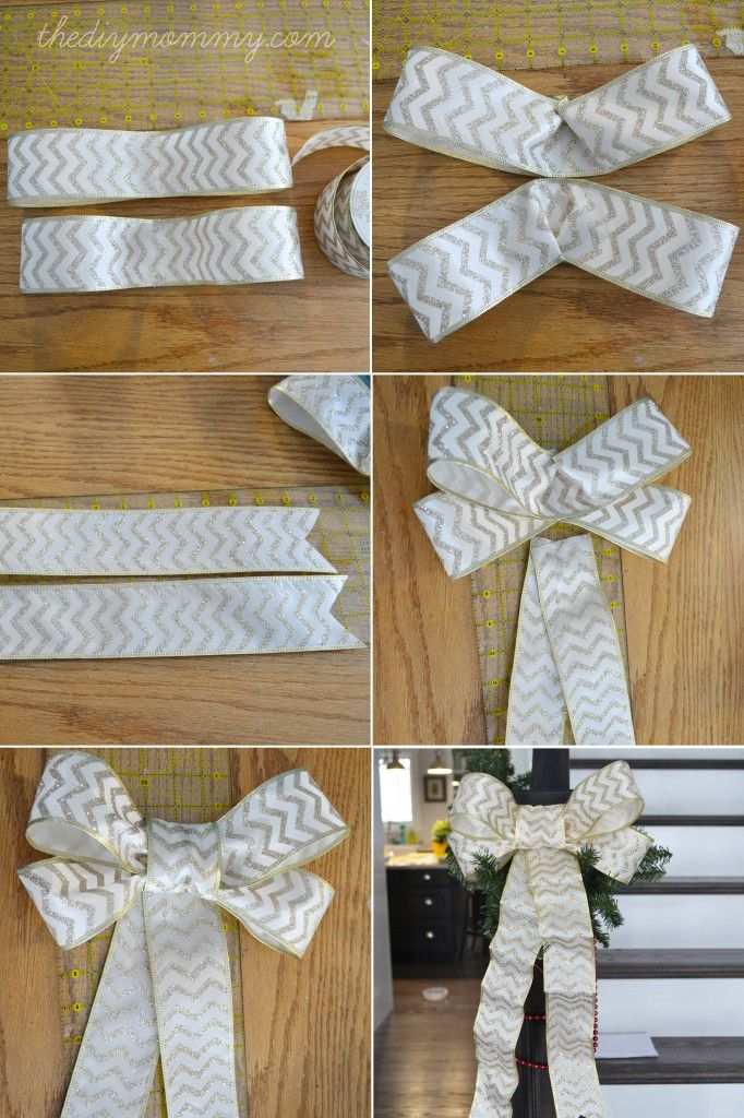 Make Diy Wired Ribbon Bows For Christmas Christmas