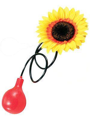 Clown Water Squirt Sunflower Circus Practical Joke Prank Flower Fancy Dress New