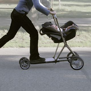 Custom Made Scooter Skateboarding Baby Stroller Carriage Dad
