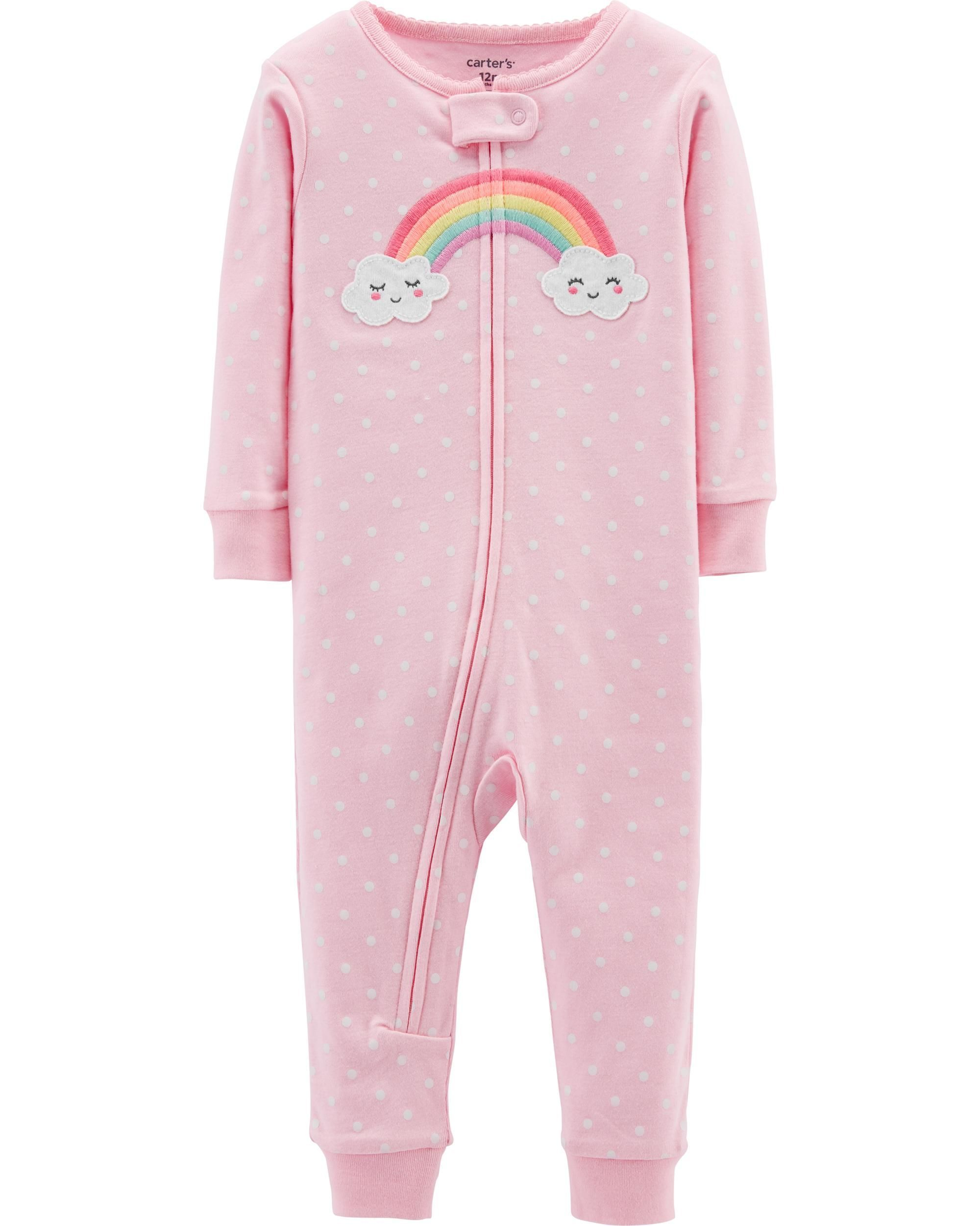 ef0aa56d9 1-Piece Rainbow Snug Fit Cotton Footless PJs