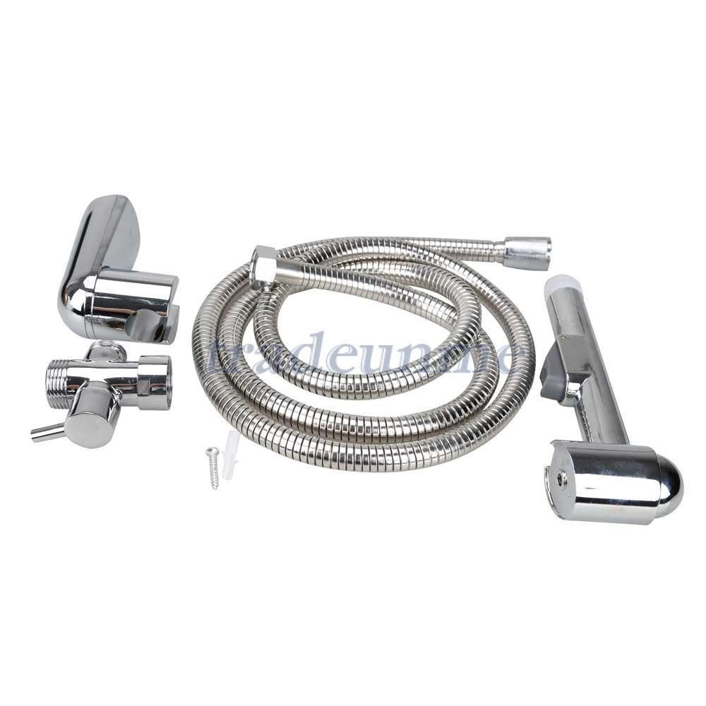 Free Shipping Hot Sale Brass T adapter Handheld Bidet Toilet Shattaf Kit Sprayer Wall Bracket Hose-in Guitar Parts & Accessories from Sports & Entertainment on Aliexpress.com | Alibaba Group