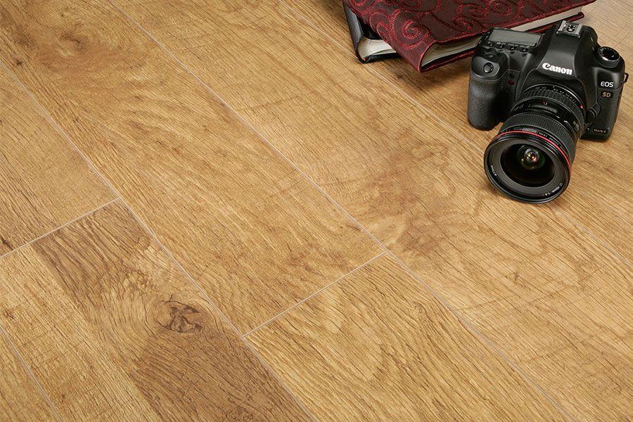 Mega Deal 10mm Laminate Flooring Harvest Oak Dining Room