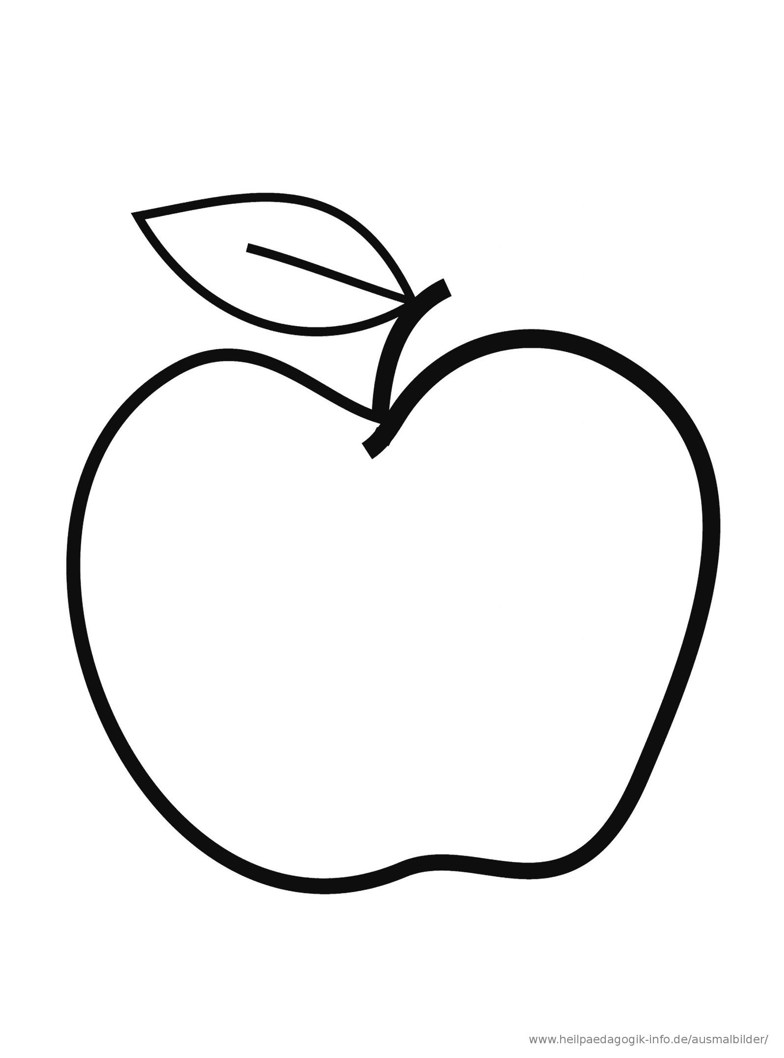 Malvorlage Apfel