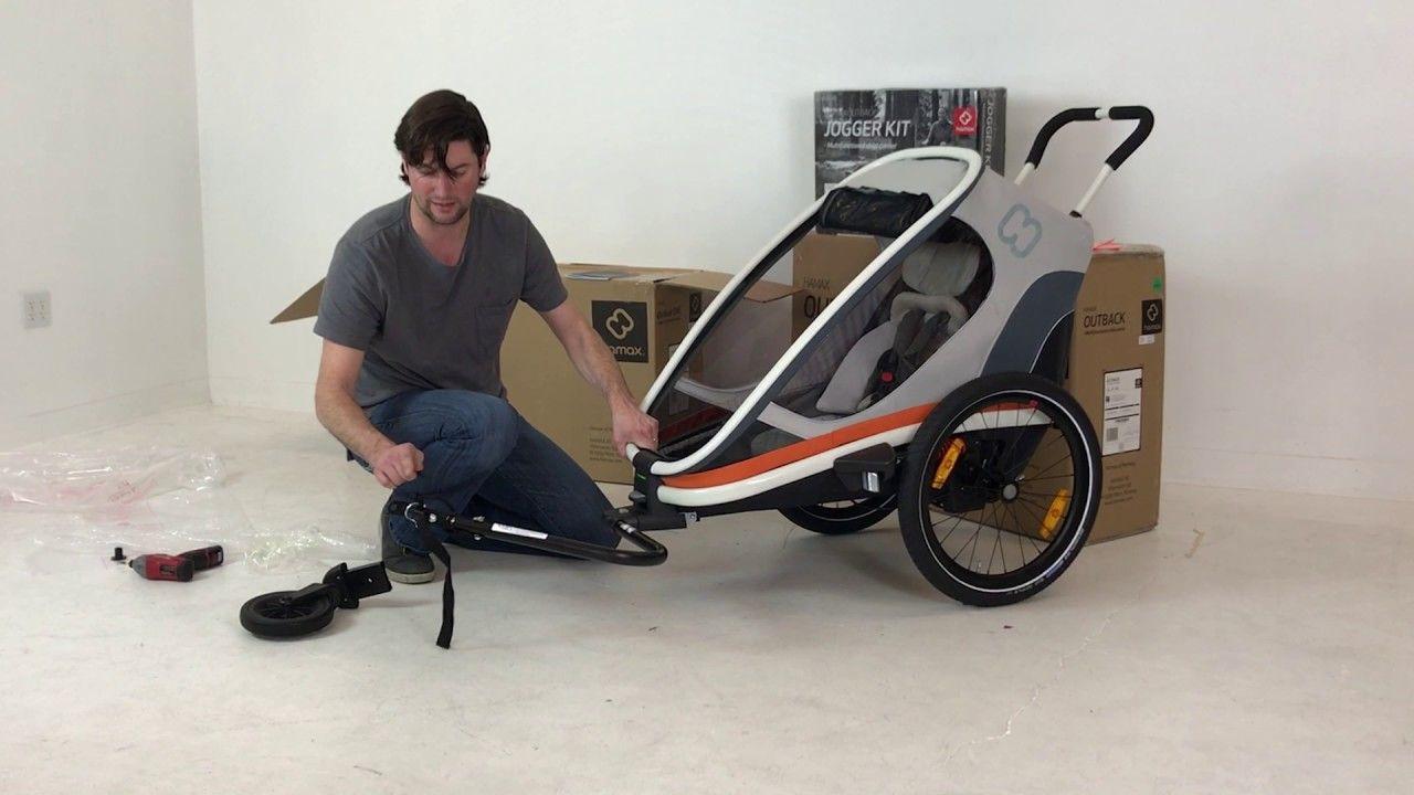 Hamax Outback One Unboxing Child Bike Trailer Kids Bike Bike