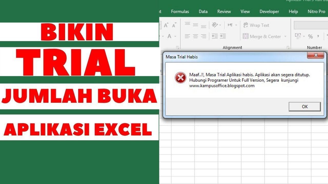 Cara Bikin Trial Jumlah Buka Aplikasi Excel Science Aplikasi Pendidikan