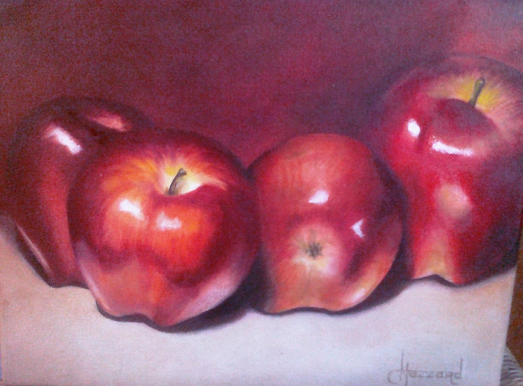 four apples oils on canvas 9 x11 still life pinterest oil on