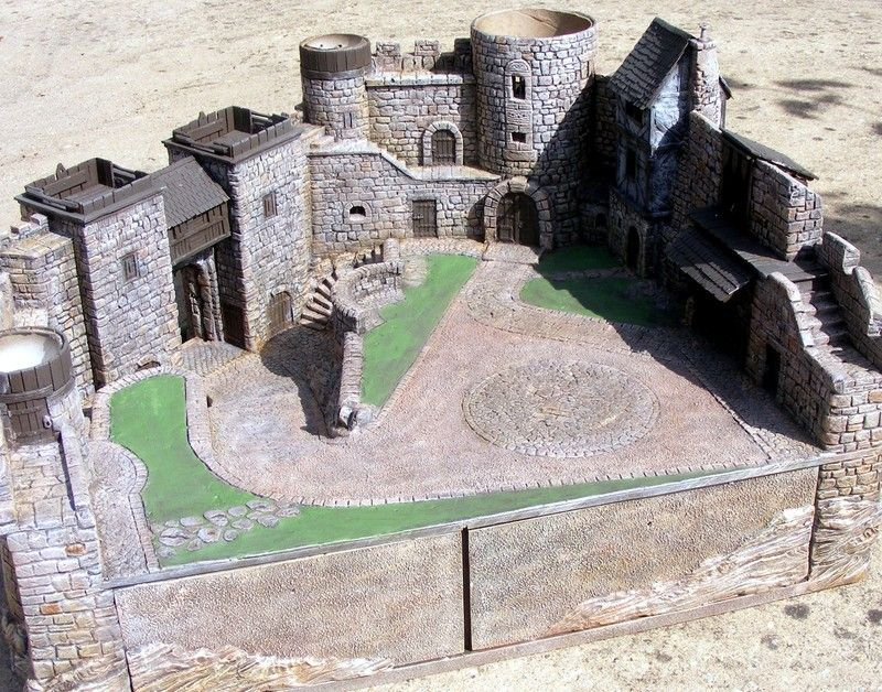 Warhammer Battle Bretonnie Model castle, Cardboard