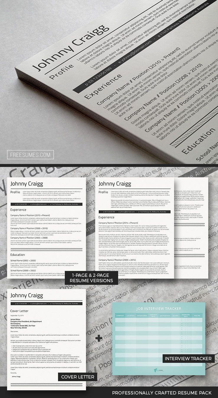 Premium Resume Template Package for Word