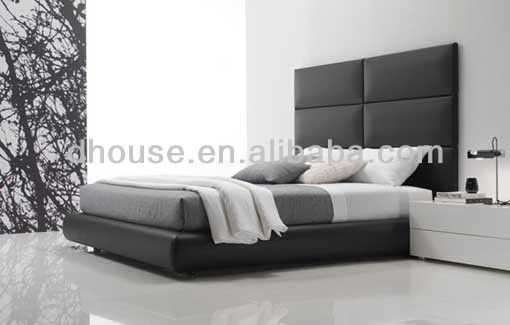 Contemporary Leather Bed High Headboard Design Dh216b Buy King
