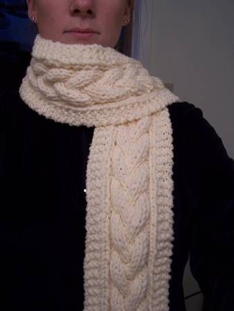 cabled hat and scarf [with pattern!] - KNITTING double the cable ...