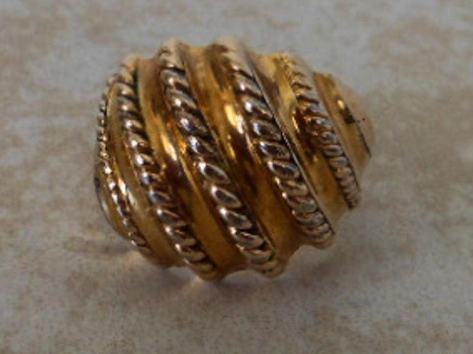Vintage Clark Coombs 10k Gold Filled Band Domed With Rope Strands Art Deco Size 7 1 4 Vintage Rings Antique Jewelry Jewelry