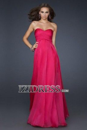 Sheath/Column Strapless Sweetheart Chiffon Evening Dress - IZIDRESS.com