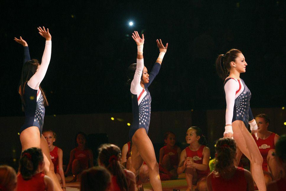 Gallery goldmedal gymnasts soar during their stop in
