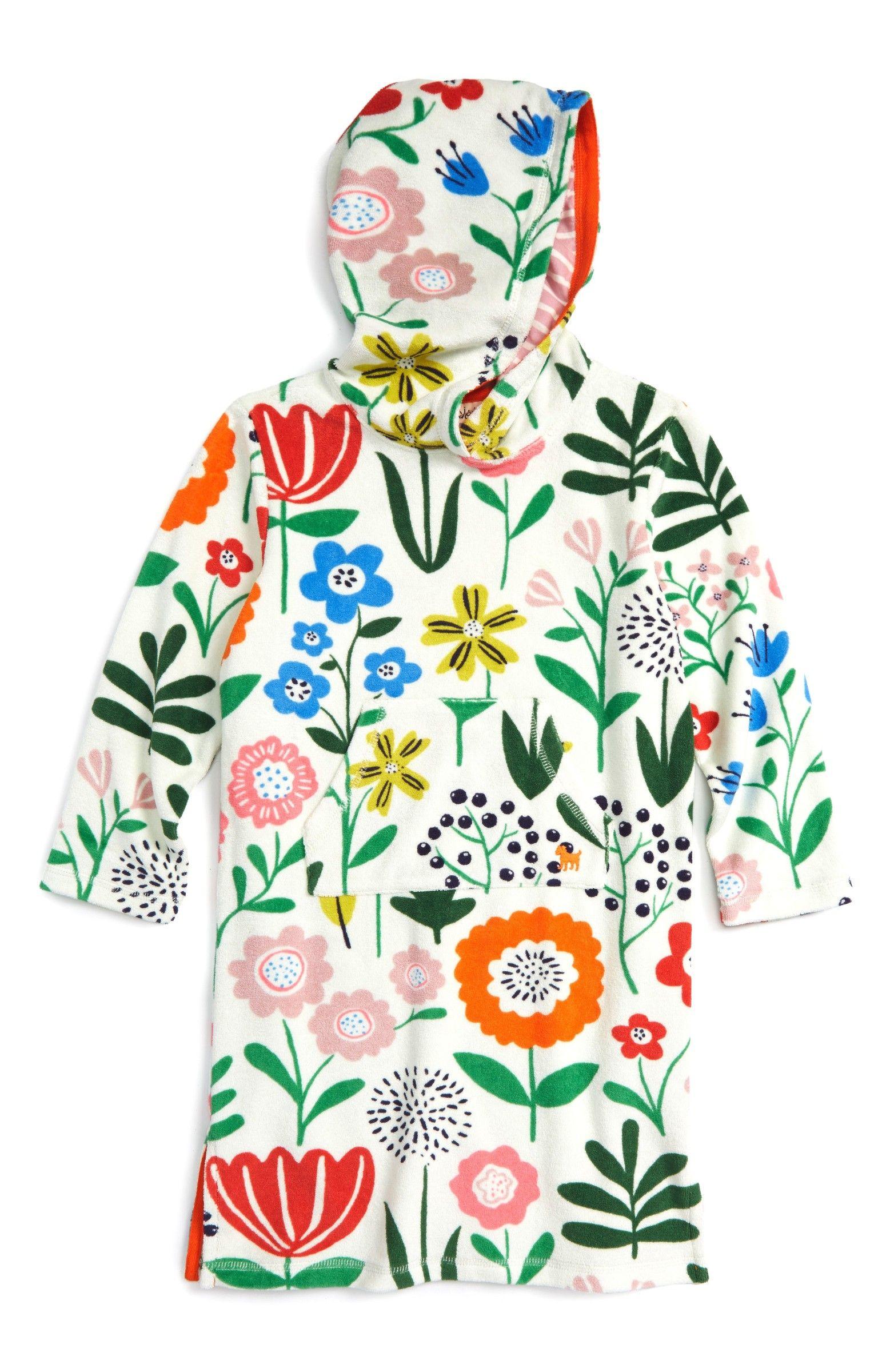 674c852b053 Main Image - Mini Boden Print Towelling Beach Dress (Toddler Girls ...