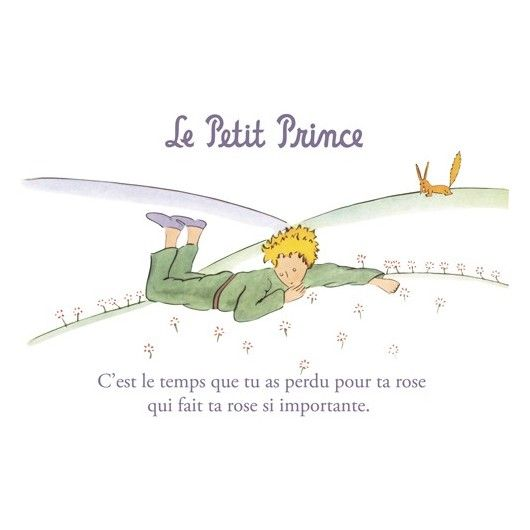 Carte postale Le Petit Prince - Le temps perdu pour ta rose… 1 | Le ...