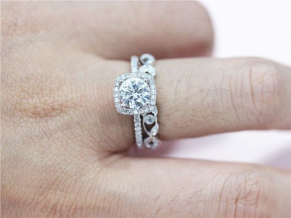Brand New  -Express Shipping  -Amazing Price  -Comprehensive Customer Service  Solid 14K White Gold,Size Available for choice 6.5mm Round Cut