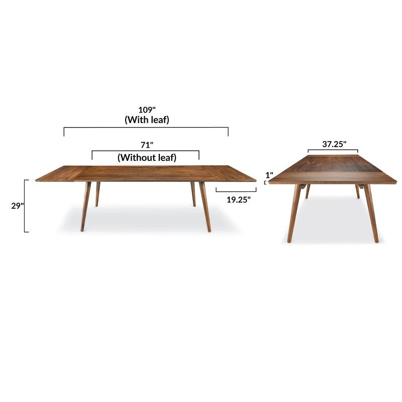 Bradly Extendable Solid Wood Dining Table In 2020 Solid Wood Dining Table Wood Dining Table Contemporary Dining Table