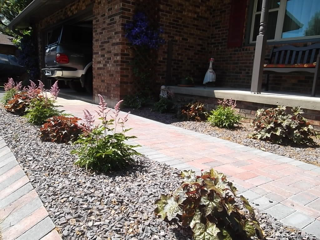 Brick Paver Edging Residential Landscape Design Brick Paver Walkway Brick Paver