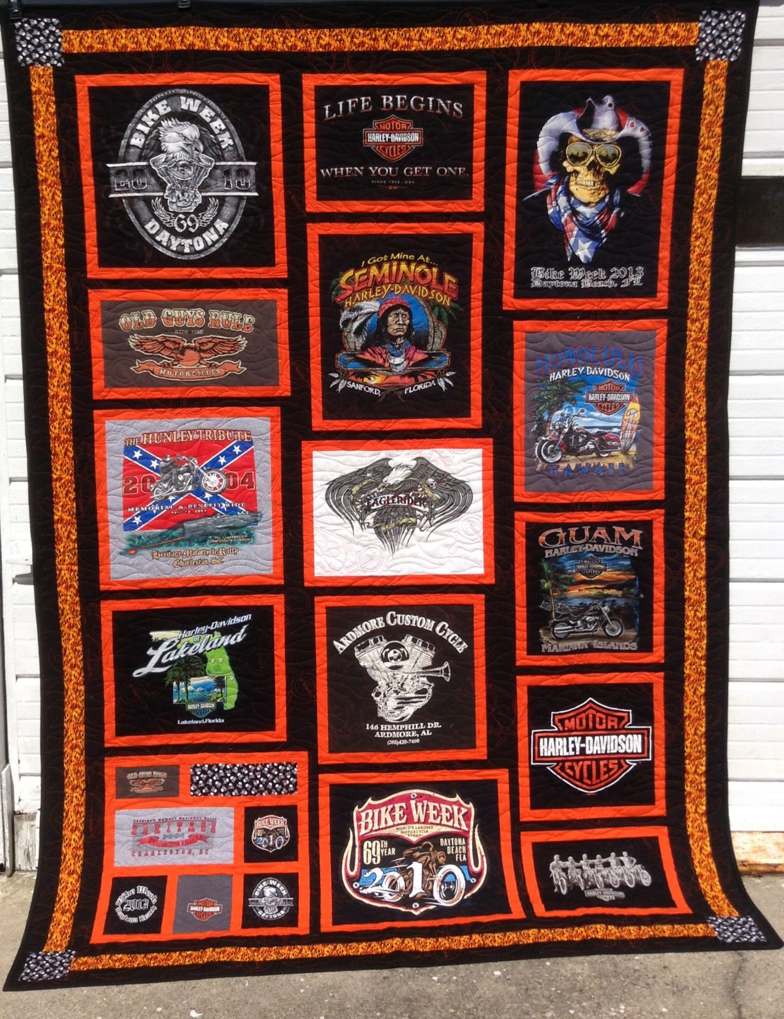 T Shirt Quilt Pattern With Different Size Blocks Cool Decorating