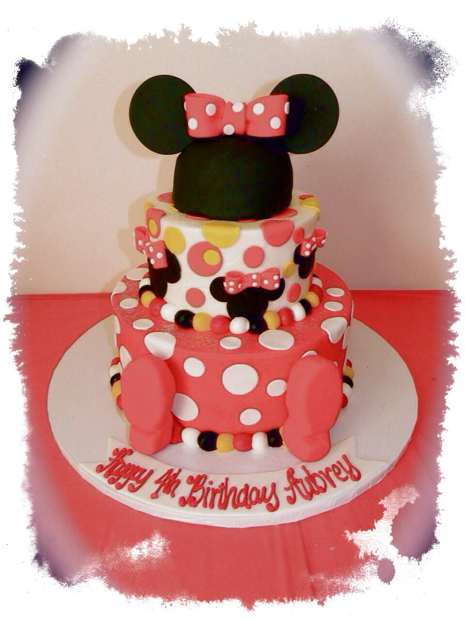 Minnie Mouse birthday cake made by Michael Angelo's bakery in Broadview Hts