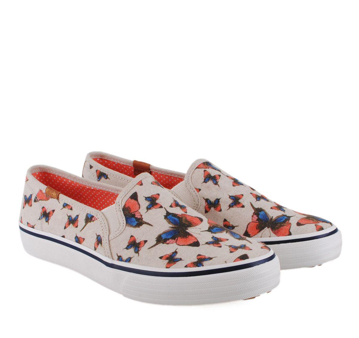 2e609ab2ec4 KEDS Νatural Beige Canvas Slippers. Γυναικεία μπεζ υφασμάτινα slip-on  παπούτσια.