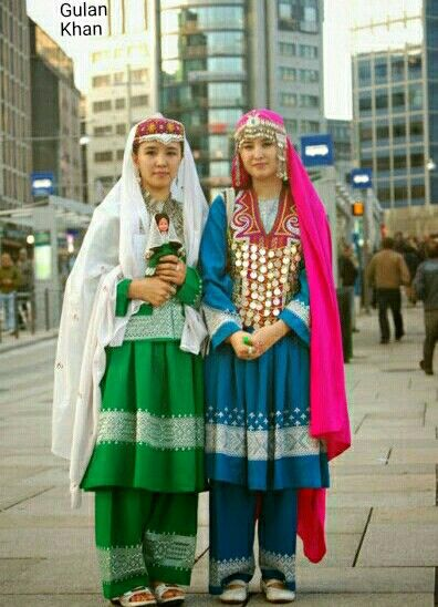 Afghanistan Girl With Afghanistani Traditional Dresses