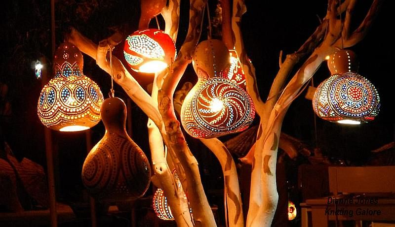 Gourd lights in Gümüşlük, Turkey. The gourds can take upto 1 year to dry…
