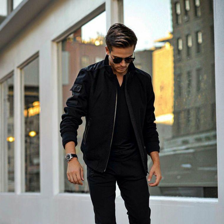 Per Con Nero Un Jeans Colore GiaccaStreet E Di Maglietta Style PO80wnk