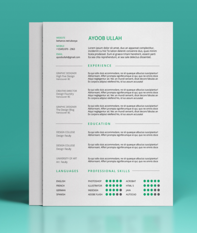 FREE Resume Template That's Beautifully Designed
