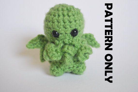 Pattern Cthulhu Crochet Pattern Cthulhu Plushie Crochet Cthulhu