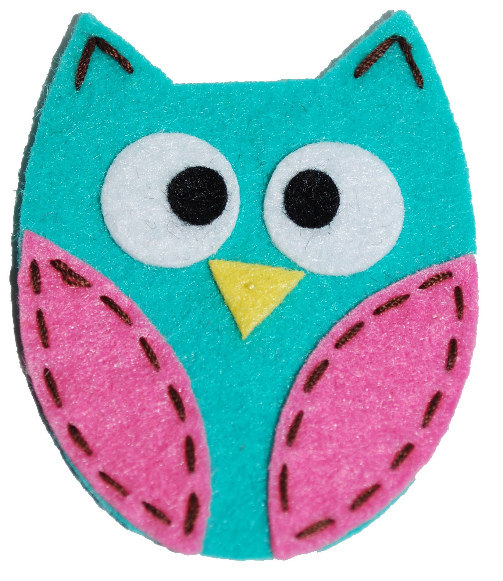 Felt Owl Clip Turquoise Craft Ideas Owls Crafts