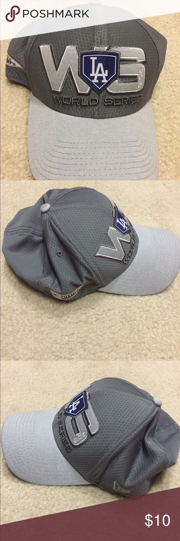 c716771a1 LA Dodgers 2018 National League Champion Hat Gray -NWOT LA Dodgers 2018 National  League Champions