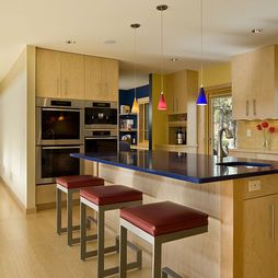 gorgeous blue countertops