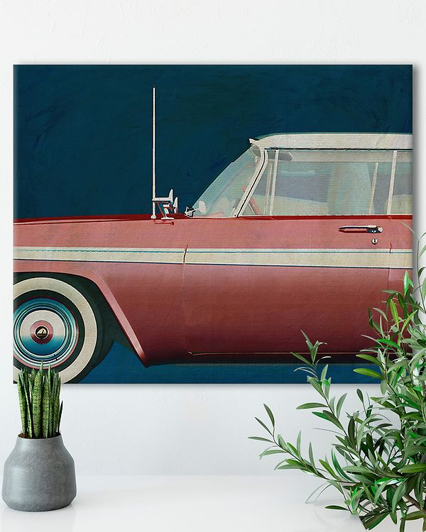 Interior Idea with an Iconic Plymouth Belvedere Sport Sedan 1957 Car on canvas | Fine Art Imagery by